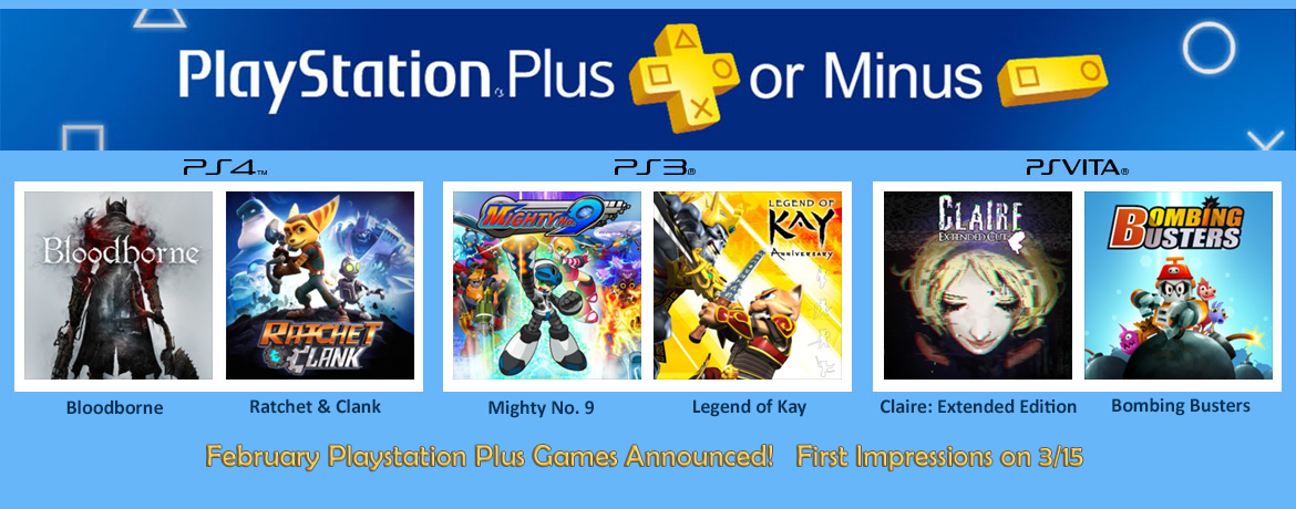 Playstation Plus Minus March 2018